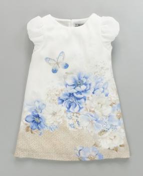 Mädchen Plissee Hellblau Mayoral BlumenSchmetterling Mit Kleid Und DHIWE29Y