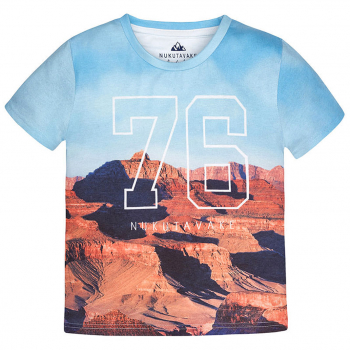 Mayoral T-Shirt kurzarm mit allover-Canyon-Print