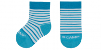 Scamp Kinder-Socken gestreift türkis
