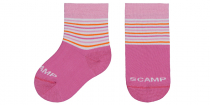 Scamp Kinder-Socken gestreift rosa-orange